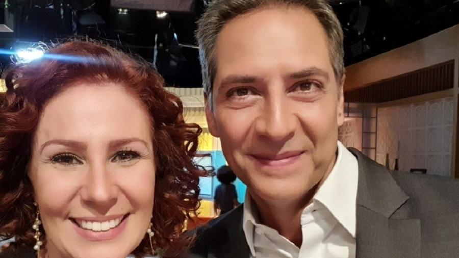 A deputada federal Carla Zambelli (PSL) e o jornalista Luís Ernesto Lacombe - Reprodução/Twitter