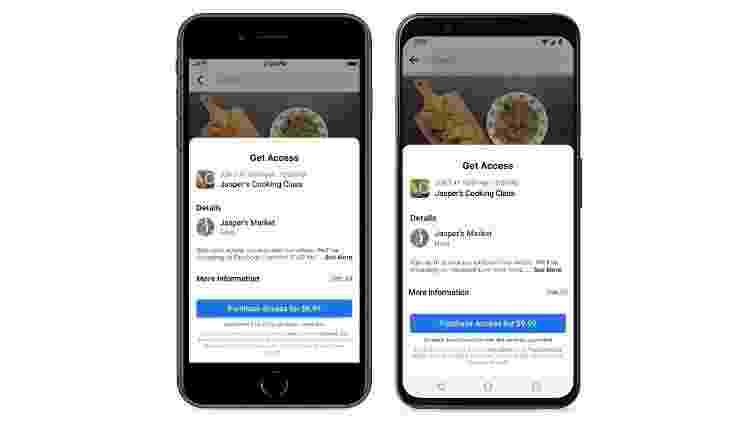 Facebook esclarece taxas das lojas de apps no seu aplicativo  - Divulgação - Divulgação