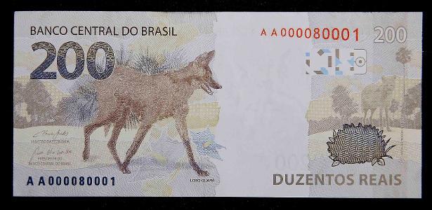 Nota de 200 reais começa a circular a partir de hoje; veja como ela é