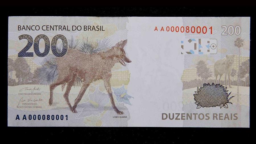 79 milhões de notas de R$ 200 estão em circulação, o que representa apenas 18% do total produzido - Divulgação/Banco Central