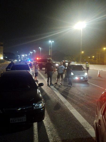 PM registrou ocorrência com motoristas embriagados afirmando serem policiais civis em SP - Imagem cedida ao UOL