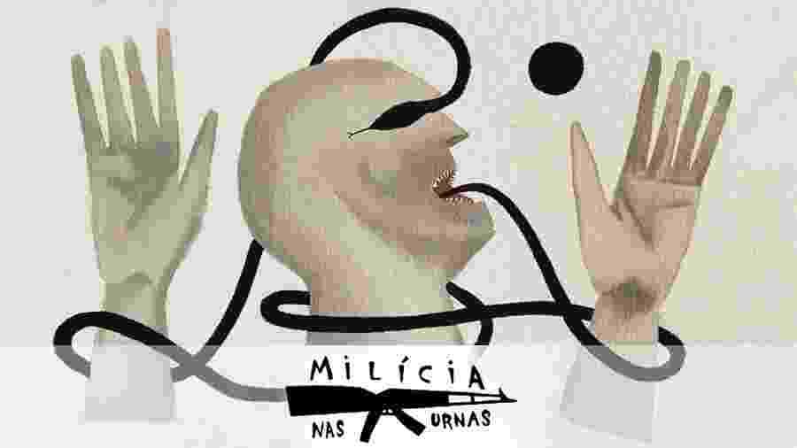"""UOL abre série de reportagens """"Milícia nas Urnas"""" com levantamento de eleitores que vivem sob o domínio do medo - medo e demência/UOL"""