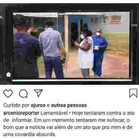 Repórter de afiliada da Globo agredido se manifestou em seu Instagram - Reprodução/Instagram - Reprodução/Instagram