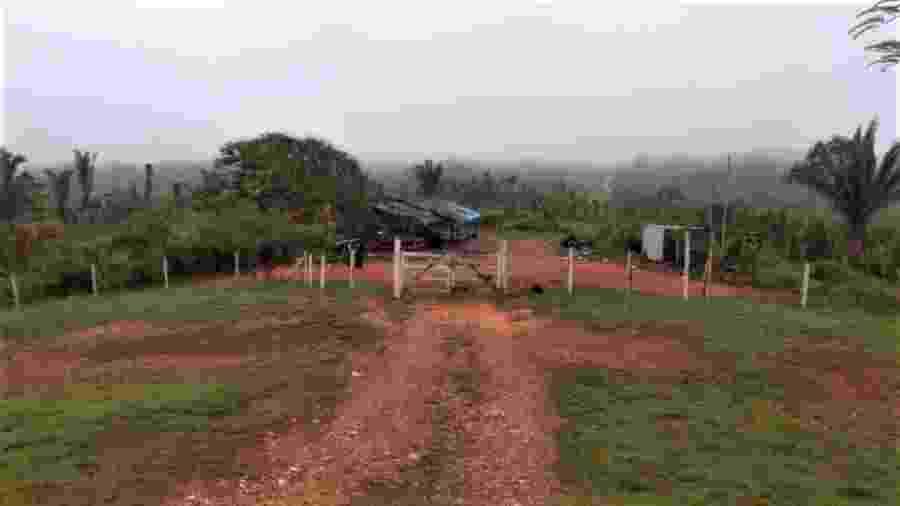 Frente da base usada pela fiscalização do Ibama e da Funai na terra indígena Apyterewa amanheceu esvaziada em 20.11.2020 - Reprodução
