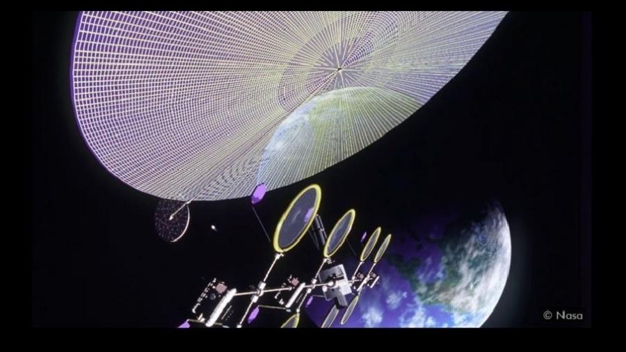 Os cientistas acreditam que enormes painéis solares no espaço poderiam ser usados ??para captar a energia do Sol e enviá-la para a Terra - Nasa