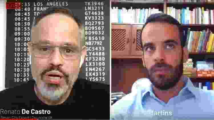 Live Renato de Castro e Guilherme Martins (BNDES) - Reprodução - Reprodução