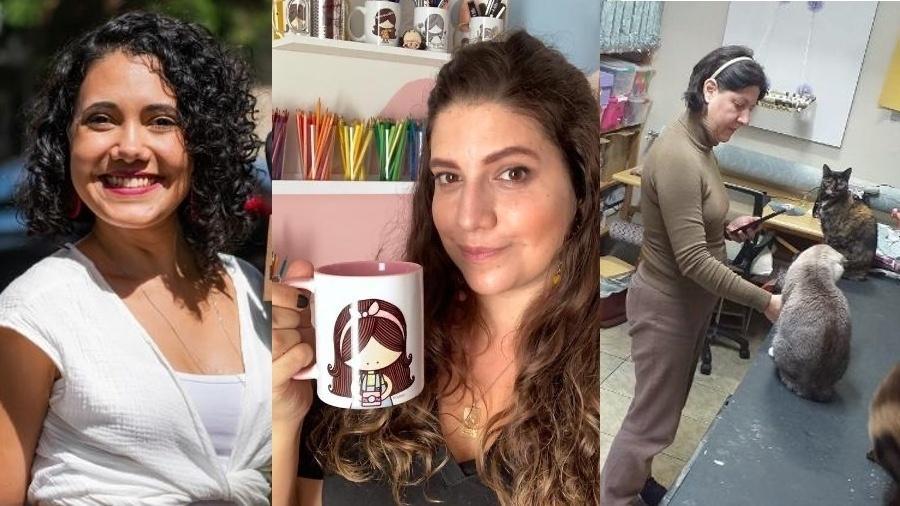 Julia Soares, Beatriz França e Andréa Cosentino; pequenas empreendedoras web, grandes negócios - Acervo pessoal