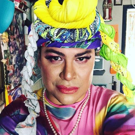 21.03.2021 -- O brasileiro Diogo Pinto da Silva interpretando a personagem Val Brazil - Reprodução/Instagram