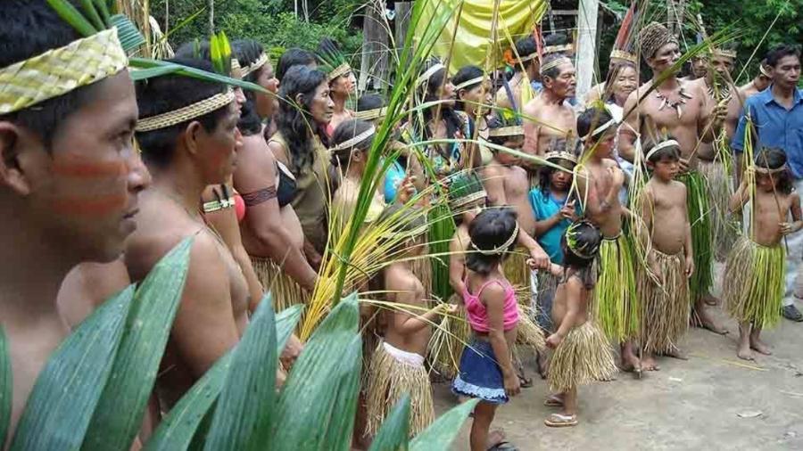 Povo apurinã, em Lábrea (AM), abordado por missionários evangélicos - Divulgação