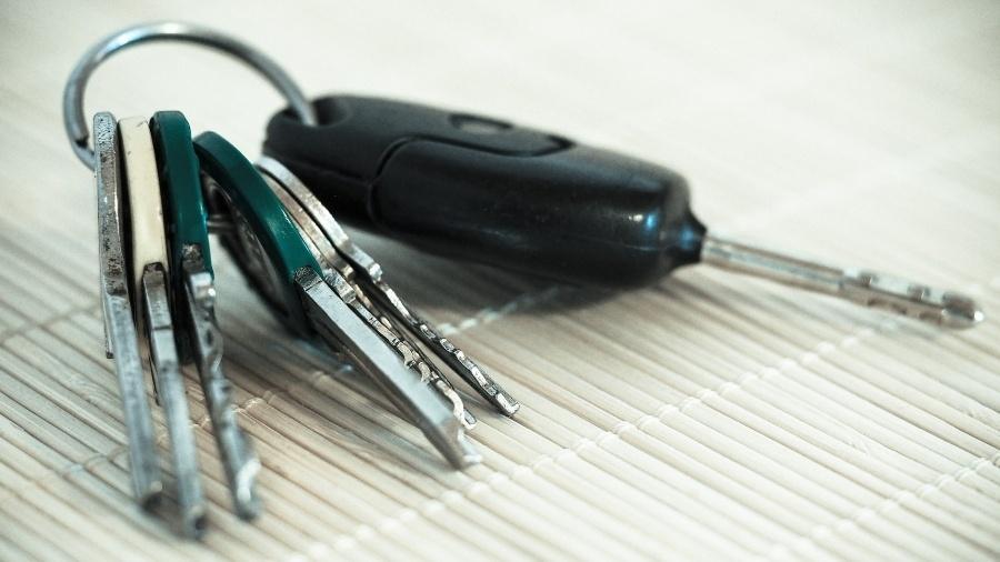 Imagem meramente ilustrativa de uma chave de carro - Divulgação/Pixabay