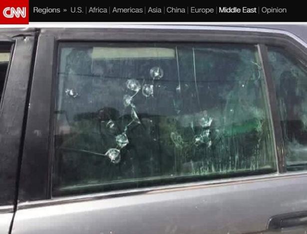 """""""Meu carro tomou mais de 50 balas, havia marcas por toda a parte"""", disse Abdulrahman"""