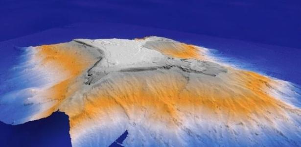 Batizada de Tropic, o monte próximo às Ilhas Canárias tem 3 mil metros de altura e apenas um terço dele se destaca na superfície do Atlântico