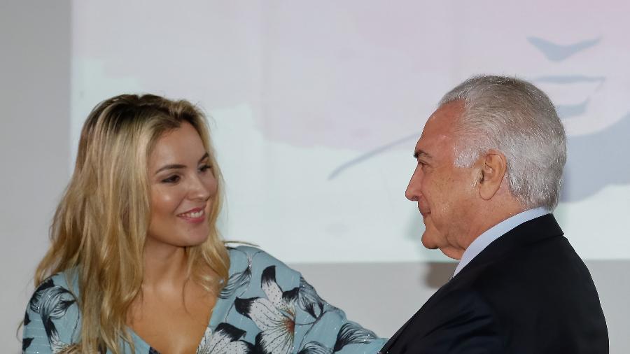 O ex-presidente Michel Temer e sua mulher, Marcela - Marcos Corrêa/PR - 8.mar.2018