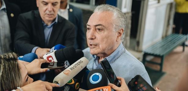 Temer fala com a imprensa após a votação em São Paulo