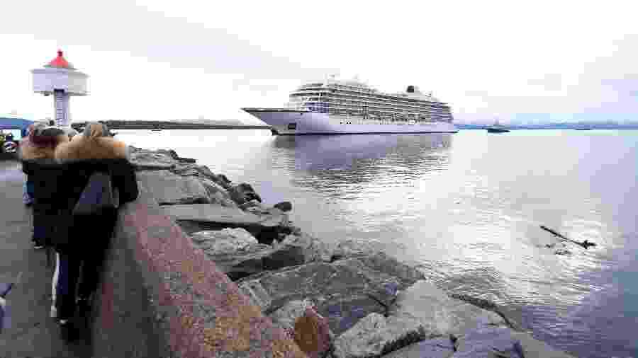 O barco humanitário Ocean Viking, das ONG SOS Méditerranée e Médicos Sem Fronteiras - Svein Ove EKORNESVAAG/NTB scanpix/AFP