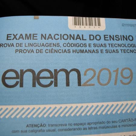 Prova do Enem 2019 - Ronaldo Silva/Futura Press/Estadão Conteúdo