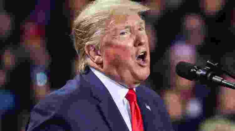 O presidente dos Estados Unidos, Donald Trump - LEAH MILLIS
