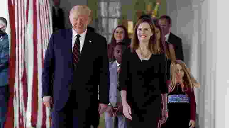 Trump e Barrett - Olivier Douliery/AFP - Olivier Douliery/AFP