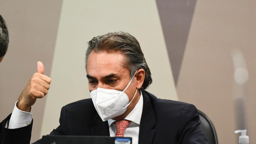 13.mai.2021 - CEO da Pfizer na América Latina, Carlos Murillo, em depoimento à CPI da Covid - Edilson Rodrigues/Agência Senado