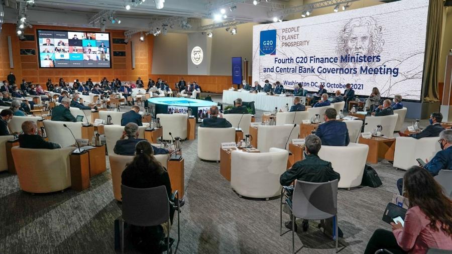 Reunião de ministros das Finanças e presidentes de bancos centrais do G20 - Reprodução/Twitter @g20org