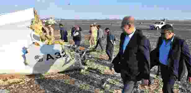 Local onde avião caiu em acidente no Egito - EFE/EPA