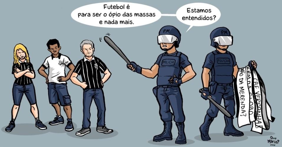 A polícia tem uma opinião interessante sobre o que deveria ser o futebol