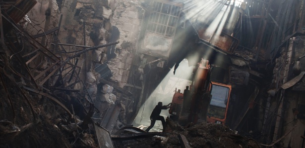 Prédios destruídos em Damasco, na Síria