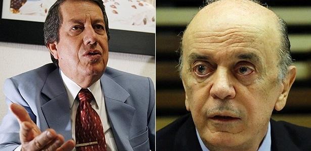 O pastor R. R. Soares (à esq.) e o ministro das Relações Exteriores, José Serra