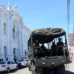 Soldados do Exército, Marinha e Aeronáutica ajudam no combate às ações de organizações criminosas no Rio Grande do Norte
