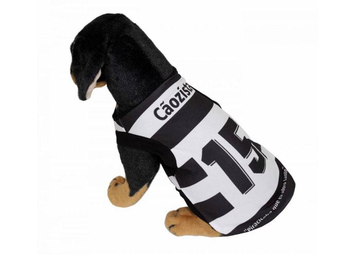 Camisa oficial do XV de Piracicaba, da linha Torcida Pet, criada pelo site Pets na Moda
