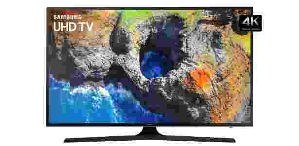 TV modelo MU6100, da Samsung; versão mais simples custa R$ 3.299 - Divulgação