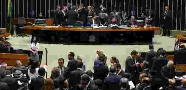29.nov.2016 - Plenário da Câmara dos Deputados na sessão em que foi votado o pacote de medidas de combate à corrupção - Alan Marques/Folhapress
