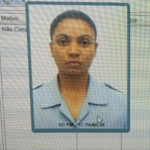 A soldado Ana Amélia Panichi