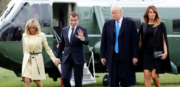 Macron em visita de Estado a Donald Trump - Jonathan Ernst/Reuters