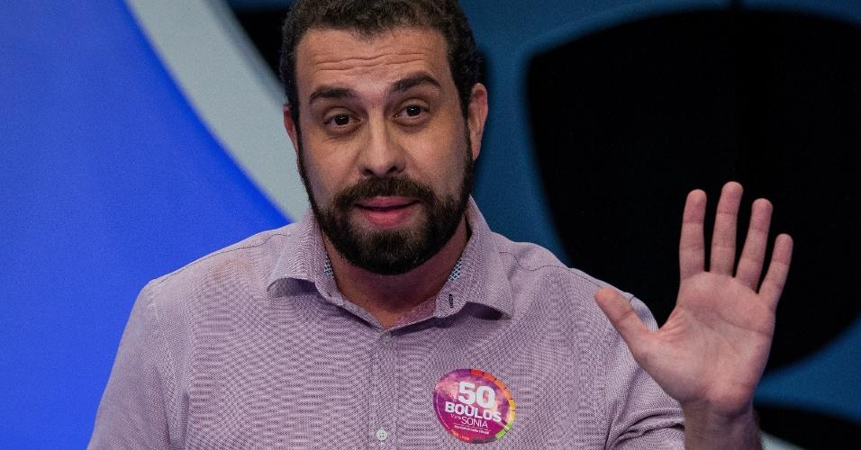 O candidato Guilherme Boulos (Psol) disse que pretende ajudar mulheres em protesto contra Bolsonaro (PSL)