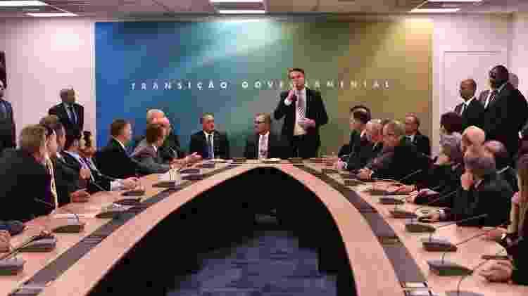 4.dez.2018 - O presidente eleito, Jair Bolsonaro, se reuniu com a bancada de deputados do MDB - Divulgação/Governo de Transição - Divulgação/Governo de Transição