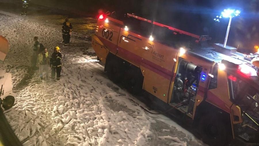 Um avião da Latam faz pouso de emergência em Confins no último dia 20 - Twitter/Reprodução