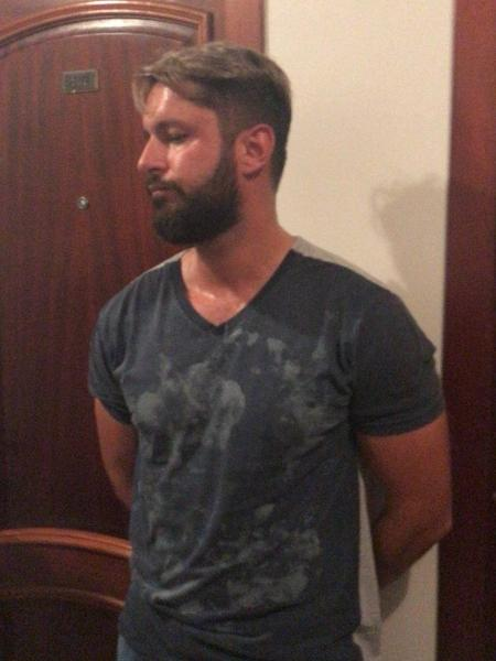 Sérgio de Arruda Quintiliano Neto, o Minotauro, ao ser preso pela PF em 2018 - Divulgação/PF