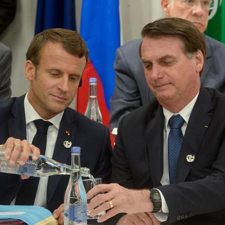 Bolsonaro e Macron se encontram durante cúpula do G20 - Frederico Mellado / ARG