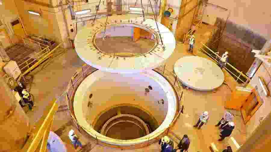 23.dez.2019 - Reator nuclear em Arak, no Irã - Divulgação/Organização de Energia Atômica do Irã/AFP