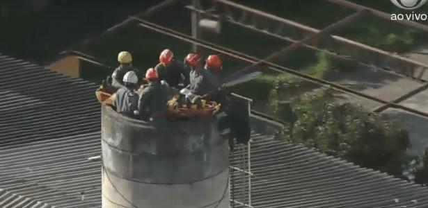 Teria tido mal-estar   Homem cai em caixa d'água de 10 metros de altura em São Paulo