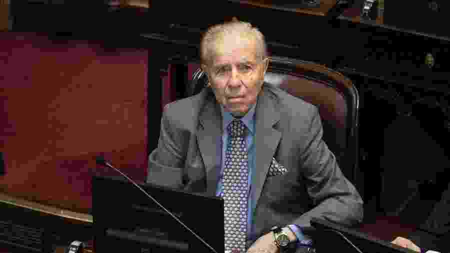Carlos Menem, ex-presidente da Argentina, estava internado e recebeu alta - Matías Baglietto/NurPhoto via Getty Images