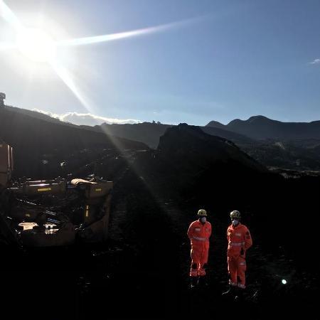 Buscas do Corpo de Bombeiros de Minas Gerais na área afetada pelo rompimento de uma barragem da Vale na cidade de Brumadinho, em Minas Gerais - Corpo de Bombeiros Militar de Minas Gerais/Divulgação