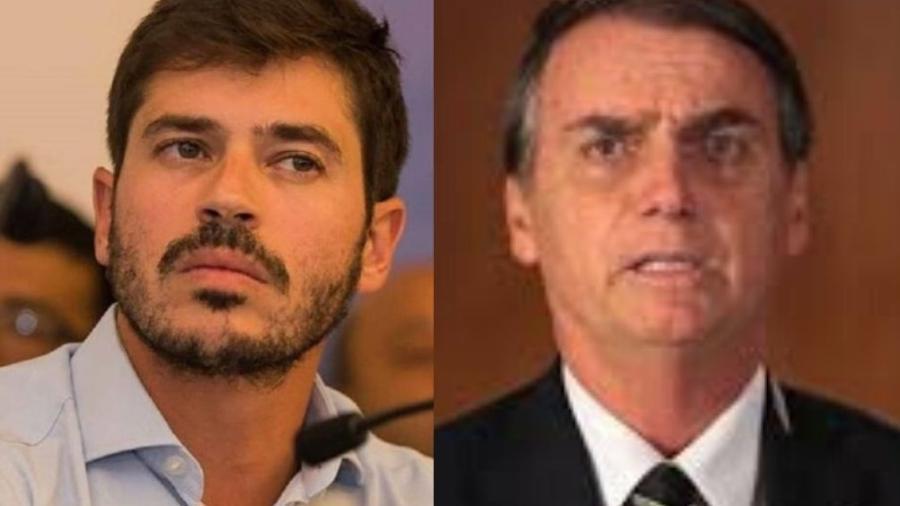 Deputado Júnior Bozzella e presidente Jair Bolsonaro - Divulgação e reprodução de vídeo