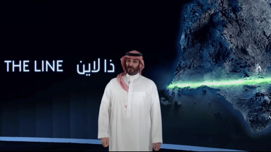 Príncipe Mohammed bin Salman anuncia lançamento do projeto The Line - Reprodução/ NEO)M