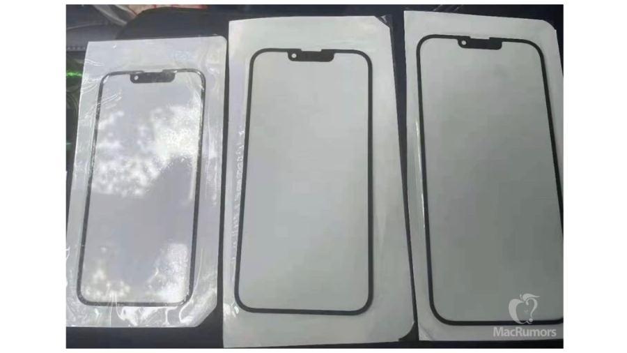 Suposto novo entalhe das telas do iPhone 13 - Reprodução/MacRumors