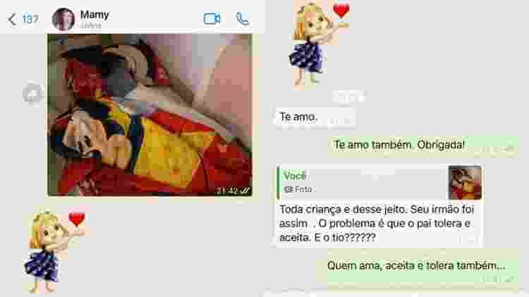 Troca de mensagens entre Monique Medeiros, mãe de Henry Borel, e avó materna da criança - Reprodução - Reprodução
