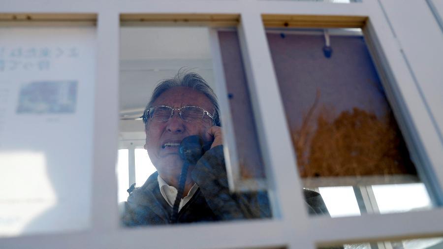 Cabine telefônica desconectada em Otsuchi, Japão - Issei Kato/Reuters