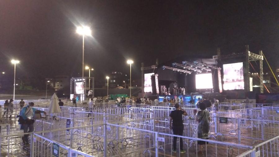 Em agosto, evento teste em Salvador teve chuva e shows esvaziados  - André Santana