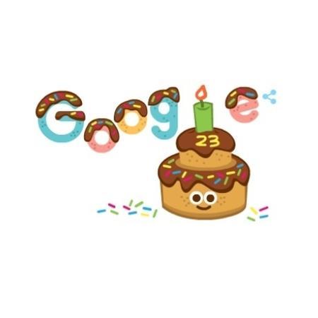 Doodle comemorativo de 23 anos do buscador do Google - Reprodução